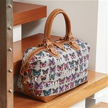 Butterfly Overnight Canvas Bag