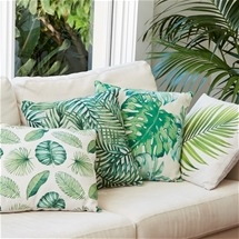 Foliage Design Cushions Set of 4