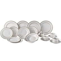 Banded Pattern Dinner 20 Piece Set