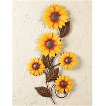 Metal Sunflower Decor