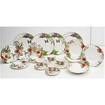 22 piece Orchid Dinner Set