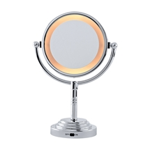 5x Magnification Two-Sided Lighted Mirror