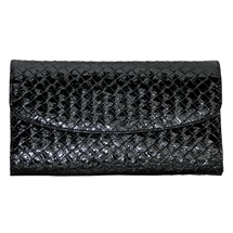 Crocodile Style Black Jewellery Travel Wallet