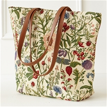 Morning Garden Tapestry Knitting Tote
