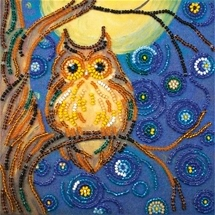 Midnight Owl Bead Embroidery