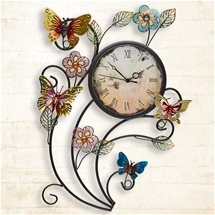 Butterfly Wall Art Clock