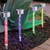 Solar Garden Bubble Lights (Set of 4)