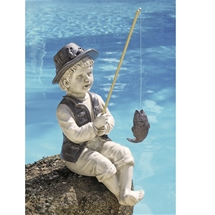 Little Fisherman Garden Statue