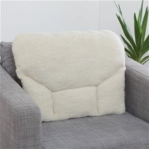 Fleece Back Support Pillow