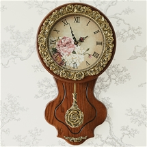 Golden Rose Clock