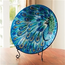 Peacock Display Platter