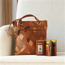 Patchwork Leather Bag Set
