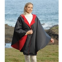 Water-Repellent Reversible Cape