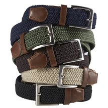 Leather Trim Stretch Belts