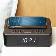Wireless Charging Bluetooth Alarm Clock