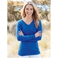 V-Neck Long Sleeve Cashmere Sweater_12W70_0