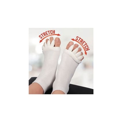 Foot Alignment Socks -Ladies White